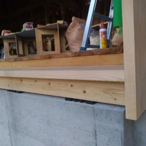 家づくり206日目 2020/3/25 リビング木製建具用 敷居・戸袋