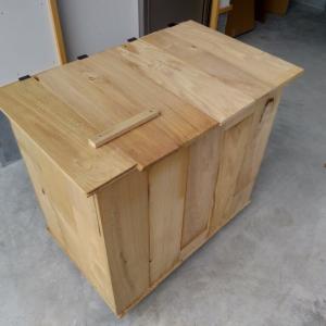 端材でゴミ箱を作ってみた