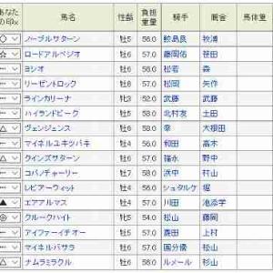 (69)京都~太秦S予想