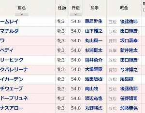 [71]笠松~クイーンカップ予想