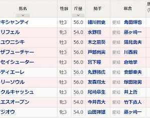 [88]名古屋~湾岸スターカップ予想
