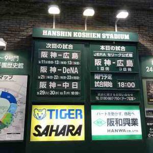 甲子園観戦♪~阪神vs広島