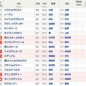 (102)中京~セントウルS予想