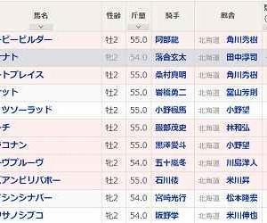 [109]門別~イノセントカップ予想