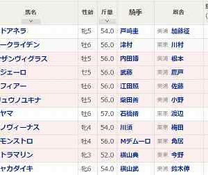 (107)中山~ながつきS予想