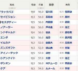 (118)東京~富士S予想