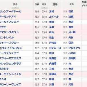 (134)東京~ジャパンカップ予想