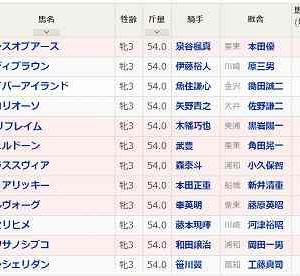 [60]川崎~関東オークス予想