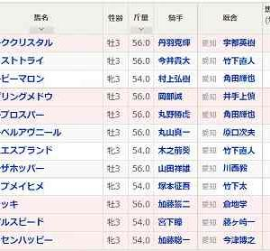 [79]名古屋~湾岸スターカップ予想