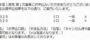 キャロット2021年募集~申し込み結果!