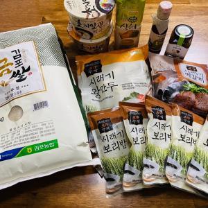 コロナ支援 食材支援8万ウォン。