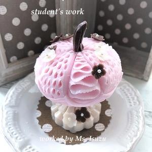 生徒さんのピンクかぼちゃ