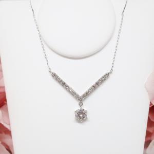 一粒ダイヤモンドネックレスの簡単リフォーム