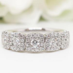 大特価!お花モチーフのスタイリッシュで上品なダイヤモンドリング
