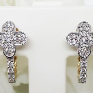 Summer Sale リバーシブル使い頂けるダイヤモンド&シェルのイヤリング