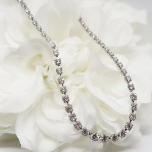 2カラットのハーフテニスダイヤモンドネックレス
