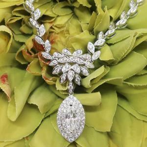 煌めきを湛える不変のダイヤモンドペンダントネックレス