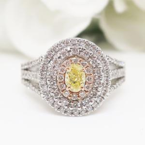 期間限定価格!ファンシーインテンスイエローダイヤモンドが放つ神秘の煌めきリング