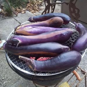 茄子の丸焼き