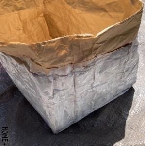 ■米袋を破棄せず再利用。久々のハトメ。