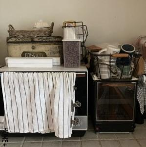 ■長年悩んだキッチンの大型収納の新入り。