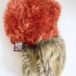 ファー付き帽子 カッパー系で