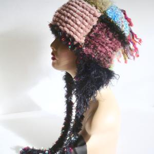 耳あて帽 30種の糸の組み合わせ