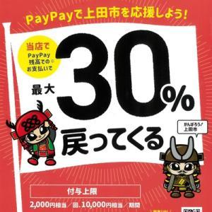 【上田市×PayPay】30%還元キャンペーン始まりました!