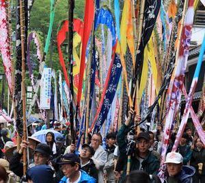 今年の祇園祭と岳の幟について