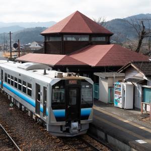 八高線GV-E400系の試運転3連編 明覚駅にて