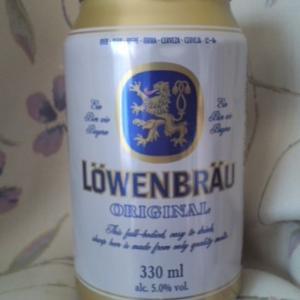 「LÖWENBRÄU ORIGONAL(レーベンブロイ)」久々に発見。海外缶ビールは量が少なめだけれども。