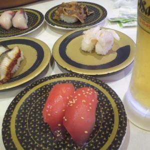 「はま寿司」で昼も夜も。