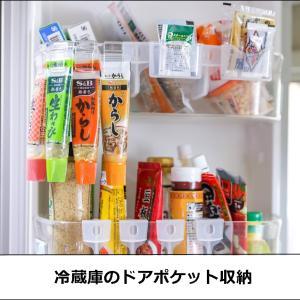 ★ダイソーの引っかけるだけフックで冷蔵庫収納(インテリアと暮らしのヒントより)
