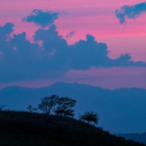 高原の夕焼け