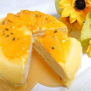 オレンジチーズミルクレープ♪