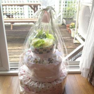 +オムツケーキを作りました+