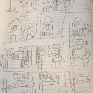 娘が5歳のときに描いたマンガ