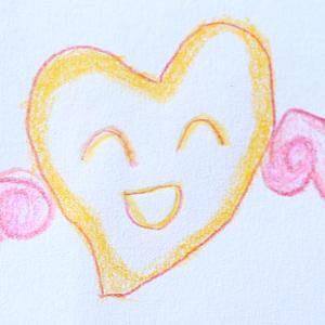 娘が描いた国際協力NGO「エンジェル・スマイル」のロゴマーク
