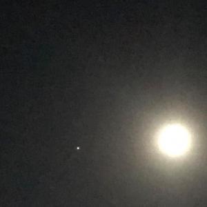 田舎星空観察 月と木星・土星 明日8月2日さらに注目です。
