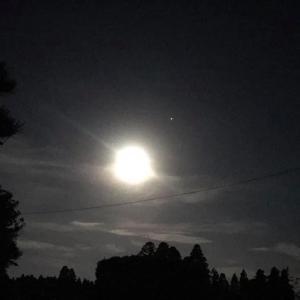 田舎星空観察 月と土星が接近。国際宇宙ステーションきぼうも日本付近を通過
