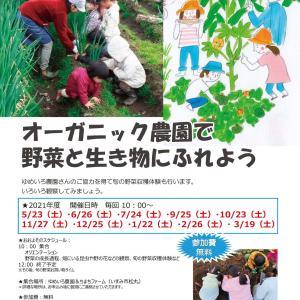 7月24日(土)「オーガニック農園で野菜と生き物にふれよう」開催
