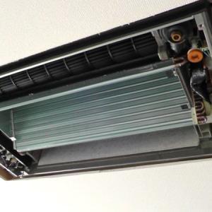 天井埋め込み式エアコンの修理と洗浄