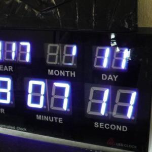デジタル時計の7セグ画素欠けを隠す