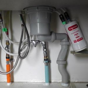 ビルトイン浄水器の浄水カートリッジを交換