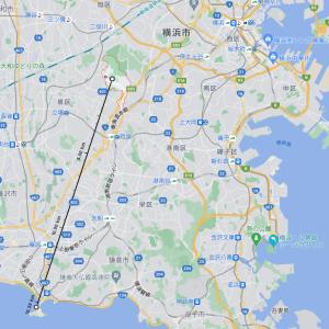 横浜市戸塚区名瀬町で脱走したニシキヘビは江の島まで流れつくか?