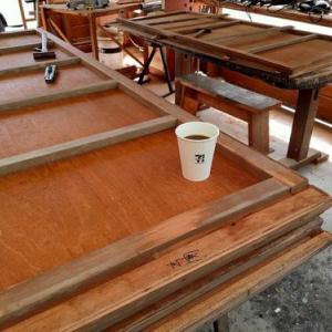 木製雨戸修理