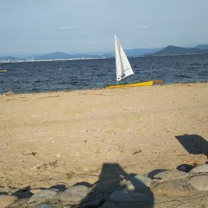 海況、微妙で包ヶ浦自然公園ビーチsailing