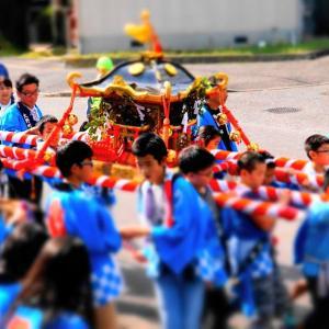 五穀豊穣を祝う村祭り(*^▽^*)♪
