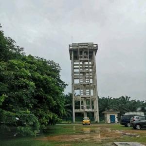 マラッカ郊外にある水の配水塔?