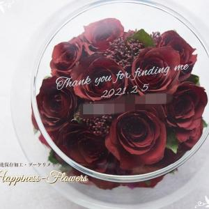 プロポーズのバラを保存